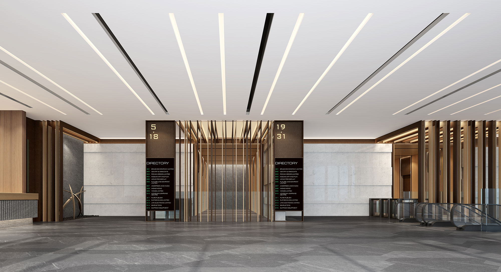 Rendering of the 1/F Entrance Lobby